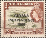 """[Independence - British Guiana Postage Stamps Overprinted """"GUYANA INDEPENDENCE 1966"""", Typ AO]"""