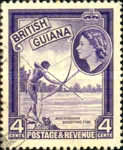 """[Independence - British Guiana Postage Stamps Overprinted """"GUYANA INDEPENDENCE 1966"""", Typ AP]"""