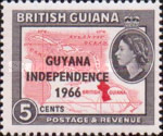 """[Independence - British Guiana Postage Stamps Overprinted """"GUYANA INDEPENDENCE 1966"""", Typ AQ]"""
