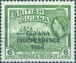 """[Independence - British Guiana Postage Stamps Overprinted """"GUYANA INDEPENDENCE 1966"""", Typ AR]"""