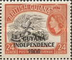 """[Independence - British Guiana Postage Stamps Overprinted """"GUYANA INDEPENDENCE 1966"""", Typ AS]"""