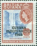 """[Independence - British Guiana Postage Stamps Overprinted """"GUYANA INDEPENDENCE 1966"""", Typ AU]"""