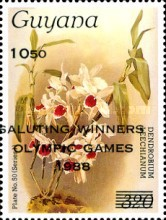[Olympic Medal Winners - Seoul, South Korea - Various Stamps Overprinted