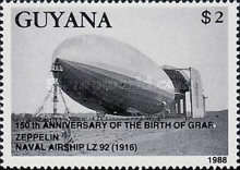 [The 150th Anniversary of the Birth of Ferdinand Graf von Zeppelin, 1838-1917, and the 20th Anniversary of First Manned Moon Landing, Typ BOF]