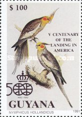 [The 500th Anniversary of the Discovery of America, 1992 - Birds, Typ CQD]