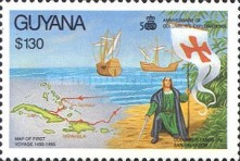 [The 500th Anniversary of Discovery of America by Columbus, Typ CXW]