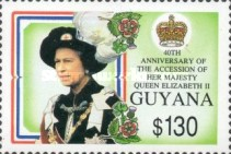[The 40th Anniversary of Queen Elizabeth II's Accession, Typ CZG]