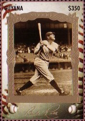 [The 100th Anniversary of the Birth of Babe Ruth, Baseball Player, 1895-1948, Typ ESD]