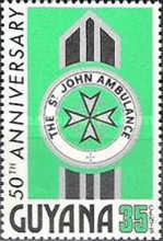 [The 50th Anniversary of St. John Ambulance in Guyana, Typ GB]