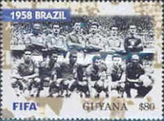 [The 100th Anniversary of FIFA, Federation Internationale de Football Association - World Cup Winning Teams, Typ IOX]
