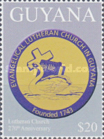[The 170th Anniversary of the Lutheran Church in Guyana, Typ JTY]