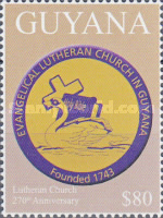 [The 170th Anniversary of the Lutheran Church in Guyana, Typ JTY1]