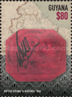 [Rarest & Most Famous Stamp - British Guiana 1C Magneta, Typ KBT]