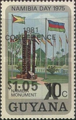 [Liberation of Southern Africa Conference - Issue of 1975 Overprinted