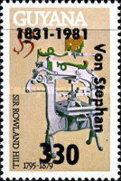 [The 150th Anniversary of the Birth of Heinrich von Stephan, Founder of U.P.U. - Issues of 1979 Overprinted