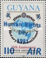 [Airmail - Human Rights Day - Issue of 1980 Overprinted