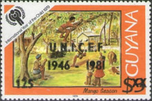 [The 35th Anniversary of UNICEF - Issue of 1979 Overprinted