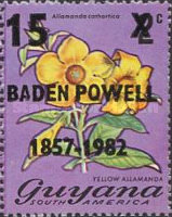[The 125th Anniversary of the Birth of Lord Baden-Powell, 1857-1941 and the 75th Anniversary of Boy Scout Movement - Issues of 1971 Surcharged, Typ MN1]