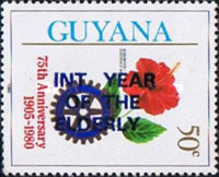 [International Year of the Elderly - Issue of 1980 Overprinted