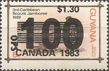 [The 15th World Scout Jamboree, Alberta - Issues of 1981 Overprinted