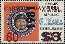 [CARICOM Day - Previous Issue Surcharged, Typ QP]