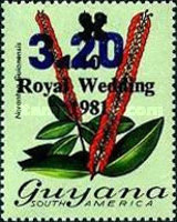 [Unissued Royal Wedding Surcharged similar to Issue of 1981 additionally Surcharged, Typ RA1]
