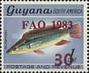 [F.A.O. Fisheries Project - Issues of 1968 Overprinted