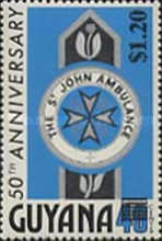 [St. John Ambulance Commemoration - Issues of 1976 Surcharged, Typ RP]