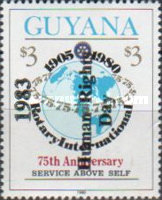 [Human Rights Day - Issue of 1983 Overprinted