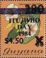 [World Telecommunications and Health Day - Various Stamps Surcharged, Typ TJ]