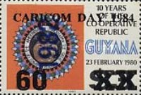 [CARICOM Day - Issue of 1983 additionally Overprinted