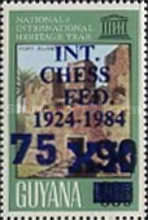 [The 60th Anniversary of International Chess Federation - Issue of 1983 Overprinted or Surcharged also, Typ UD]