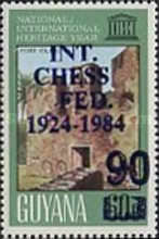 [The 60th Anniversary of International Chess Federation - Issue of 1983 Overprinted or Surcharged also, type UF]