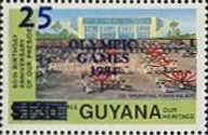 [Olympic Games - Los Angeles, USA - Issue of 1983 Surcharged, Typ UI]