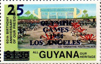 [Olympic Games - Los Angeles, USA - Issue of 1983 Surcharged, Typ UK]
