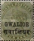 [Queen Victoria, 1819-1901 - India Postage Stamps Overprinted in Black - Devanagari Overprint 15-15½mm Long, Typ B27]