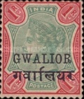 [Queen Victoria, 1819-1901 - India Postage Stamps Overprinted in Black - Devanagari Overprint 15-15½mm Long, Typ B31]