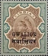 [Queen Victoria, 1819-1901 - India Postage Stamps Overprinted in Black - Devanagari Overprint 15-15½mm Long, Typ B33]