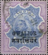 [Queen Victoria, 1819-1901 - India Postage Stamps Overprinted in Black - Devanagari Overprint 15-15½mm Long, Typ B34]