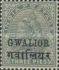 [Queen Victoria, 1819-1901 - India Postage Stamps Overprinted - Devanagari Overprint 15-15½mm Long, type B36]