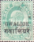 [King Edward VII, 1841-1910 - India Postage Stamps Overprinted - Inscription: