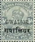 [King George V, 1865-1936 - India Postage Stamps Overprinted, type D]