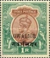 [King George V, 1865-1936 - India Postage Stamps Overprinted, type D9]