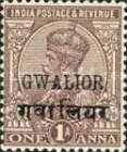 [King George V, 1865-1936 - India Postage Stamps Overprinted, Typ F]