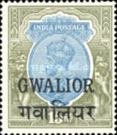 [King George V, 1865-1936 - India Postage Stamps Overprinted - Different Watermark, Typ F19]