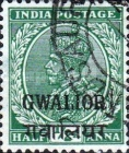[King George V, 1865-1936 - India Postage Stamps of 1932-1934 Overprinted, type F21]