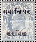 [King Edward VII, 1841-1910 - India Postage Stamps Overprinted - 10mm between Overprint, type B]