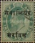 [King Edward VII, 1841-1910 - India Postage Stamps Overprinted - 10mm between Overprint, Typ B1]