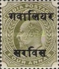 [King Edward VII, 1841-1910 - India Postage Stamps Overprinted - 8mm between Overprint, type B11]