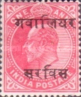 [King Edward VII, 1841-1910 - India Postage Stamps Overprinted - 10mm between Overprint, type B2]